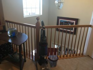 stair railing painting, interior trim painting, denver cabinet painters