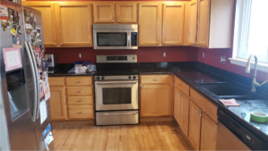 Kitchen cabinet painting, oak cabinet painting, professional cabinet painting Denver